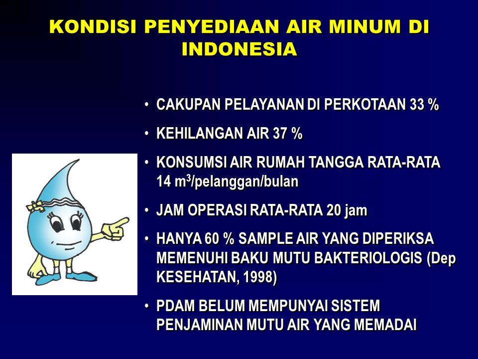 KONDISI PENYEDIAAN AIR MINUM DI INDONESIA