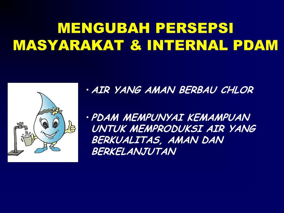 MENGUBAH PERSEPSI MASYARAKAT & INTERNAL PDAM