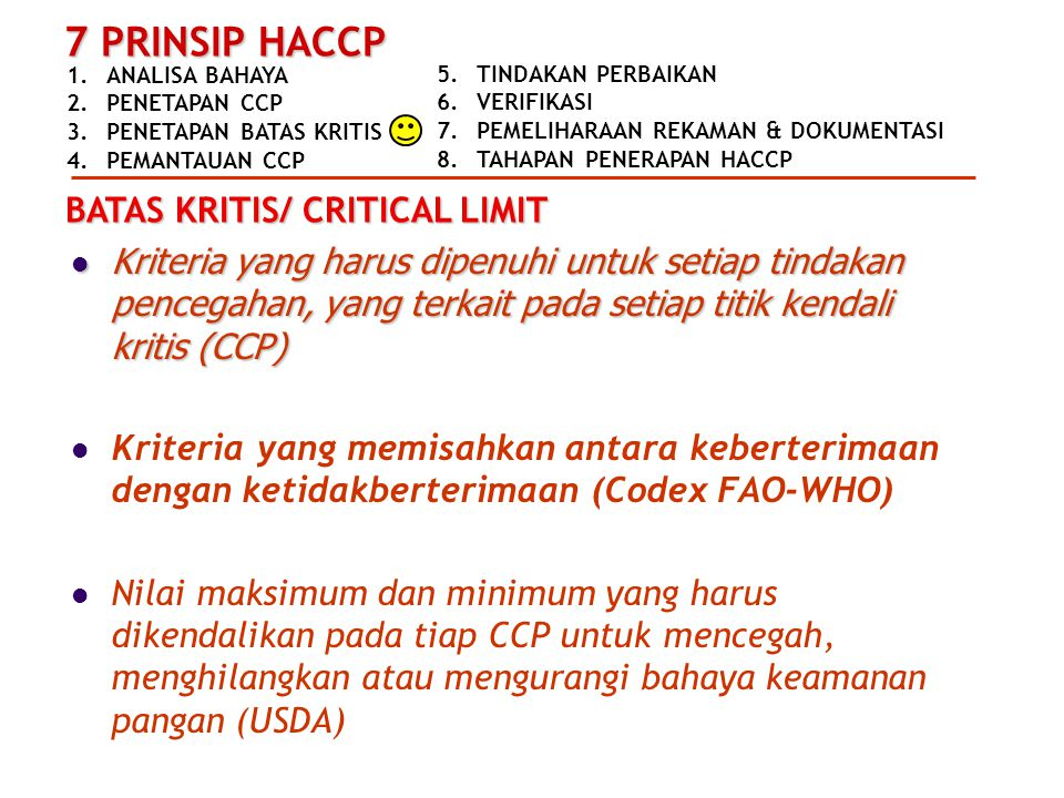 BATAS KRITIS/ CRITICAL LIMIT