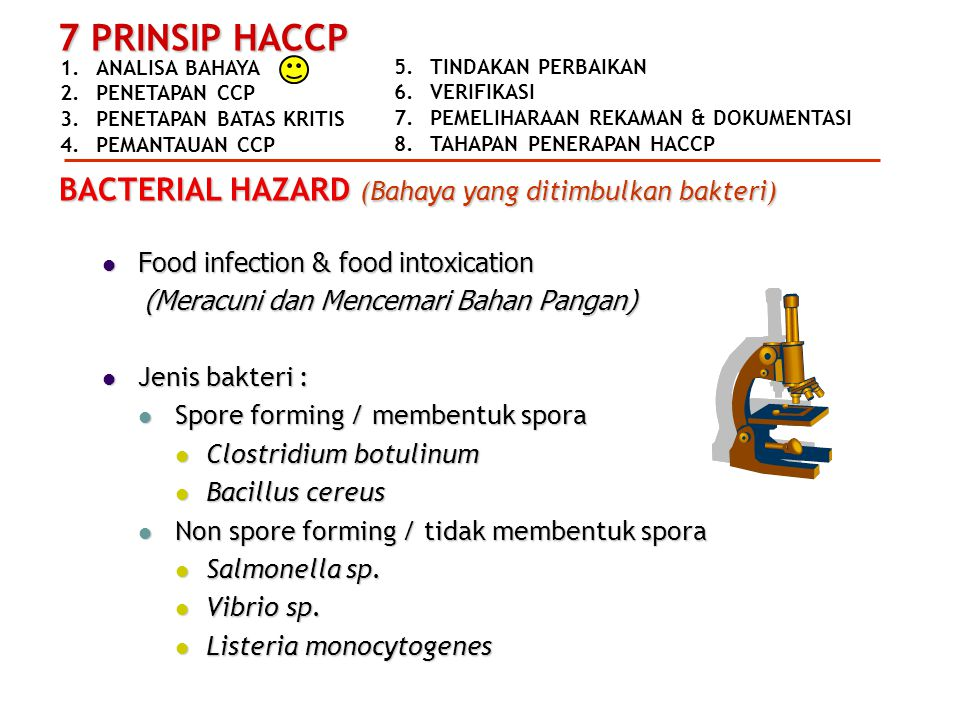 BACTERIAL HAZARD (Bahaya yang ditimbulkan bakteri)