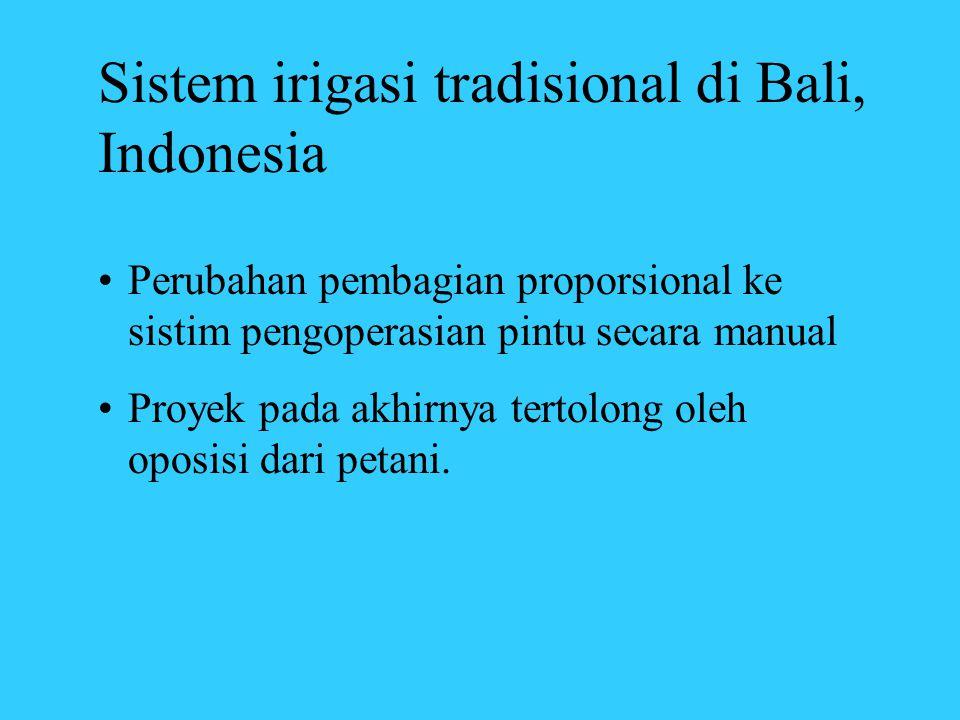 Sistem irigasi tradisional di Bali, Indonesia