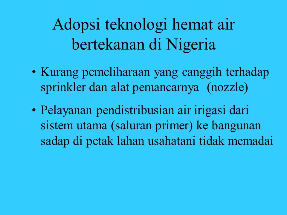 Adopsi teknologi hemat air bertekanan di Nigeria