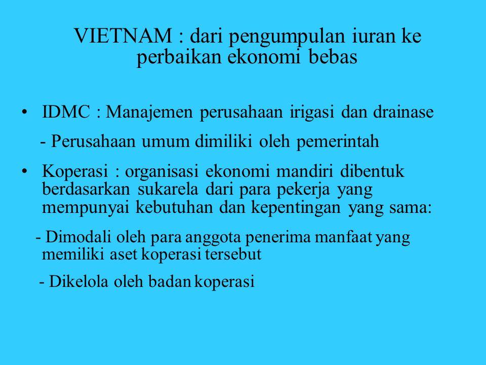 VIETNAM : dari pengumpulan iuran ke perbaikan ekonomi bebas