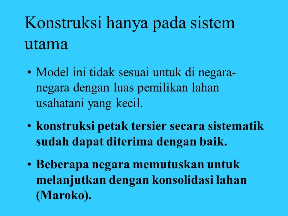 Konstruksi hanya pada sistem utama