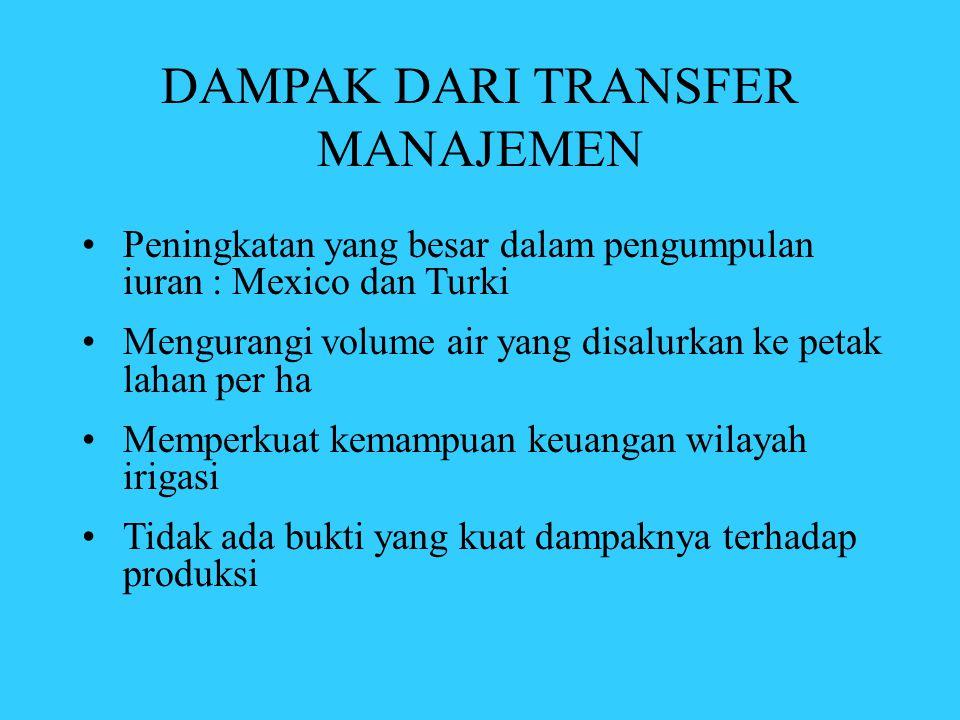 DAMPAK DARI TRANSFER MANAJEMEN