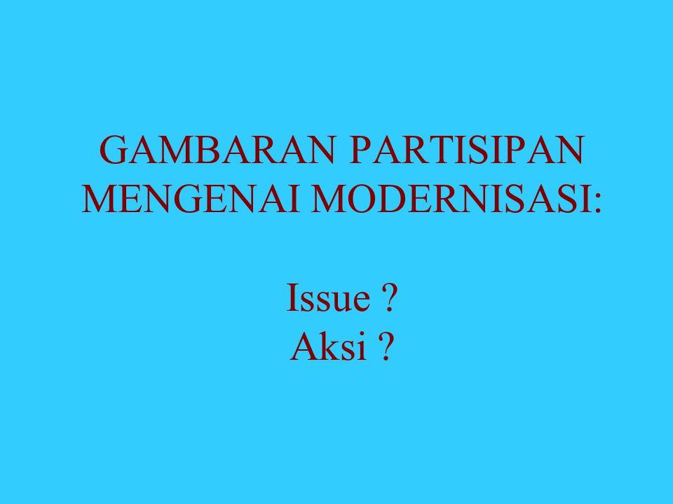 GAMBARAN PARTISIPAN MENGENAI MODERNISASI: Issue Aksi