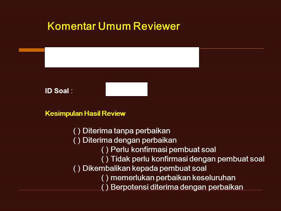 Komentar Umum Reviewer