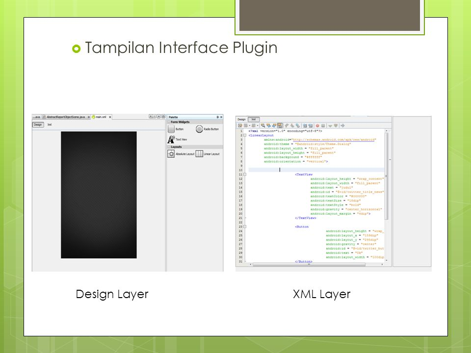Tampilan Interface Plugin