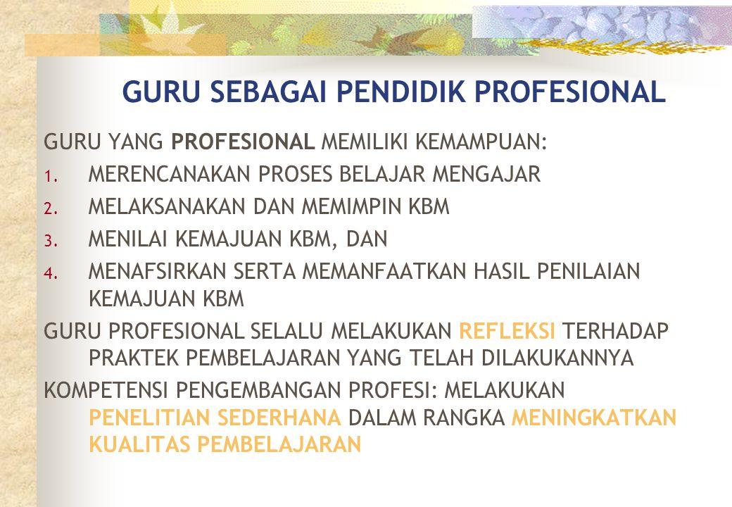 GURU SEBAGAI PENDIDIK PROFESIONAL
