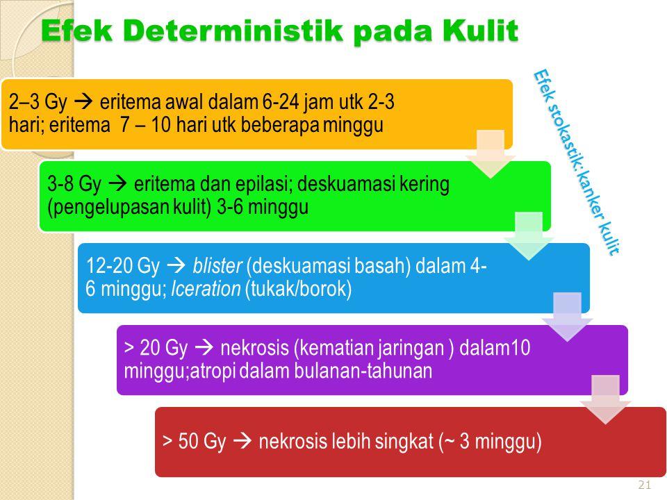 Efek Deterministik pada Kulit