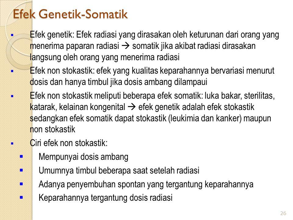 Efek Genetik-Somatik