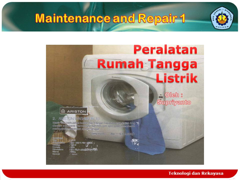 Maintenance and Repair 1
