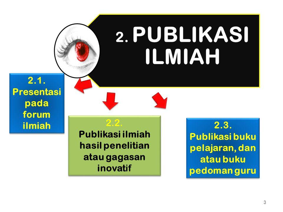 Publikasi buku pelajaran, dan atau buku pedoman guru