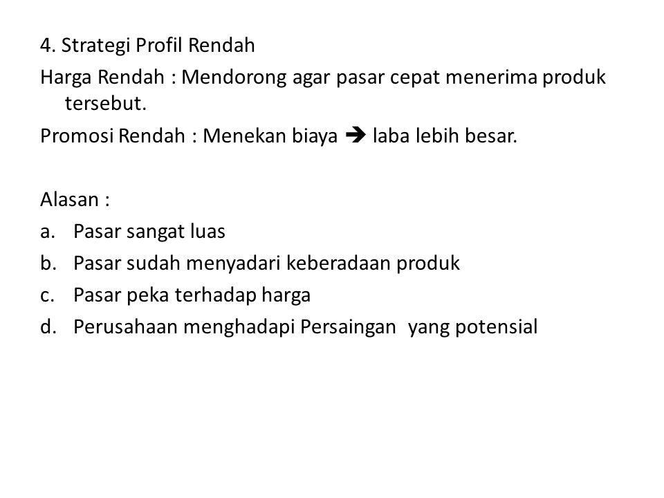 4. Strategi Profil Rendah