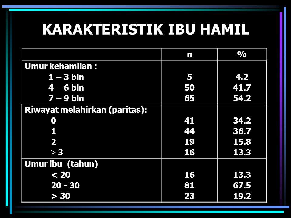 KARAKTERISTIK IBU HAMIL