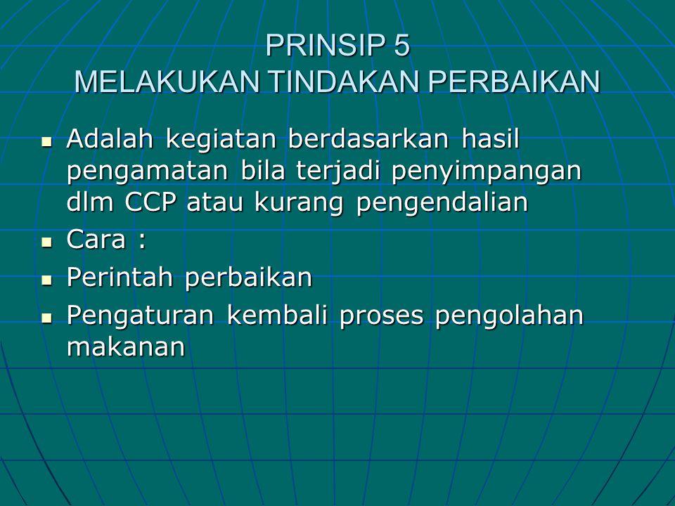 PRINSIP 5 MELAKUKAN TINDAKAN PERBAIKAN