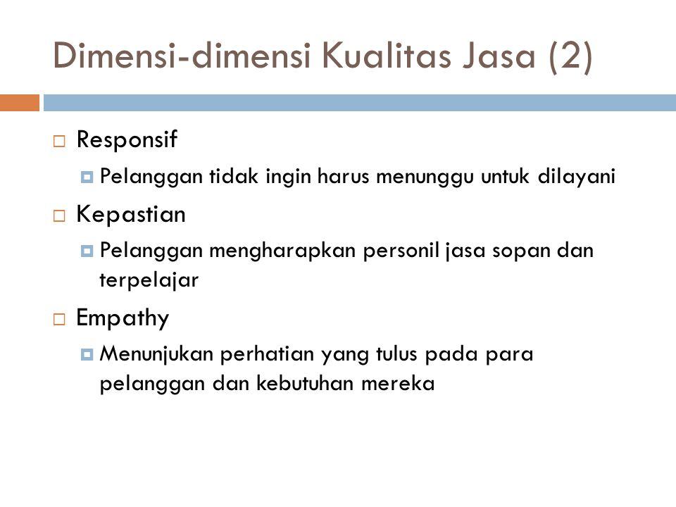 Dimensi-dimensi Kualitas Jasa (2)