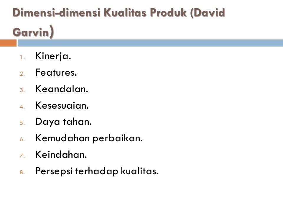 Dimensi-dimensi Kualitas Produk (David Garvin)