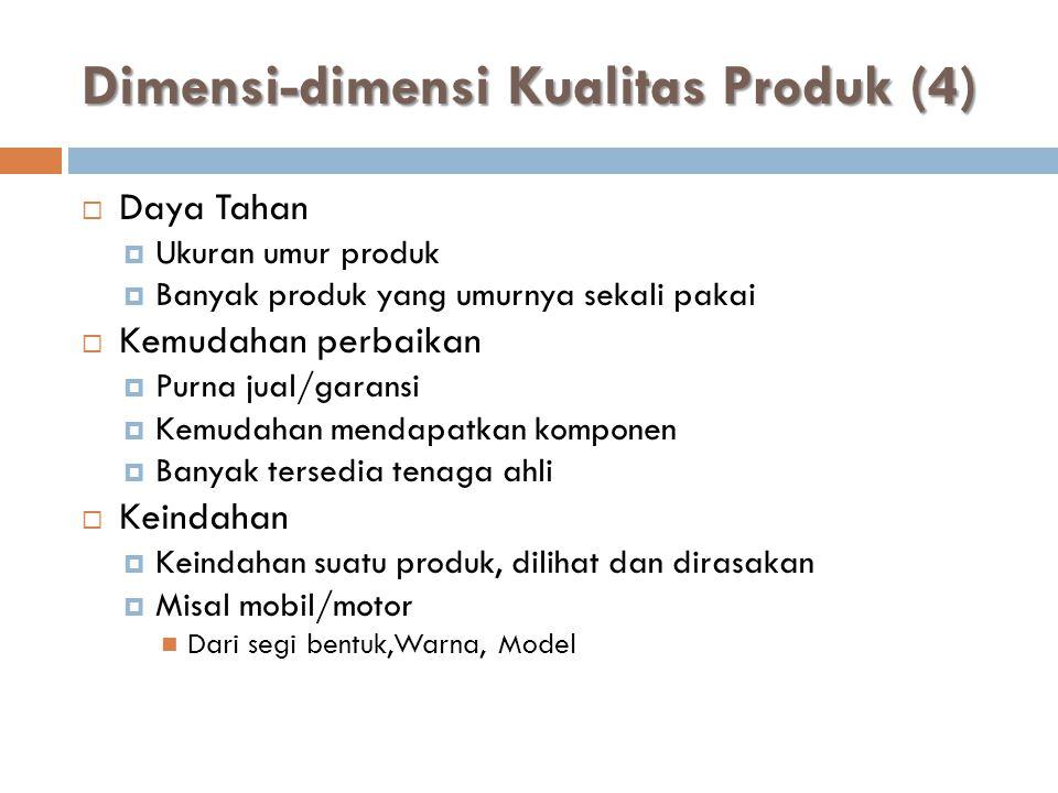 Dimensi-dimensi Kualitas Produk (4)