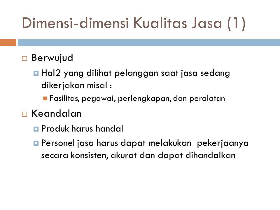 Dimensi-dimensi Kualitas Jasa (1)