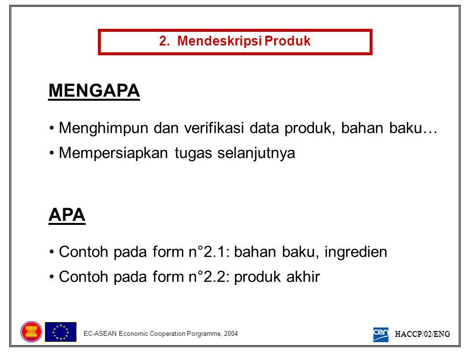 MENGAPA APA Menghimpun dan verifikasi data produk, bahan baku…