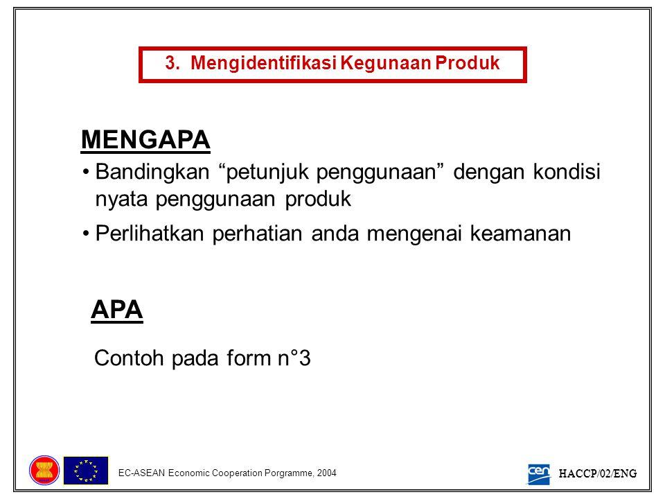 3. Mengidentifikasi Kegunaan Produk