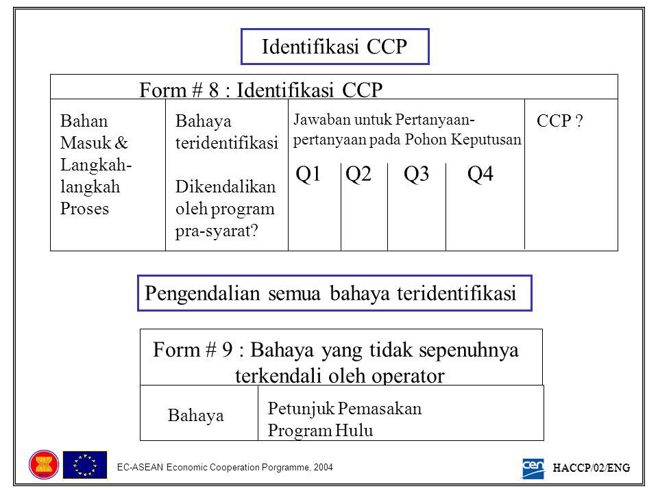 Form # 8 : Identifikasi CCP
