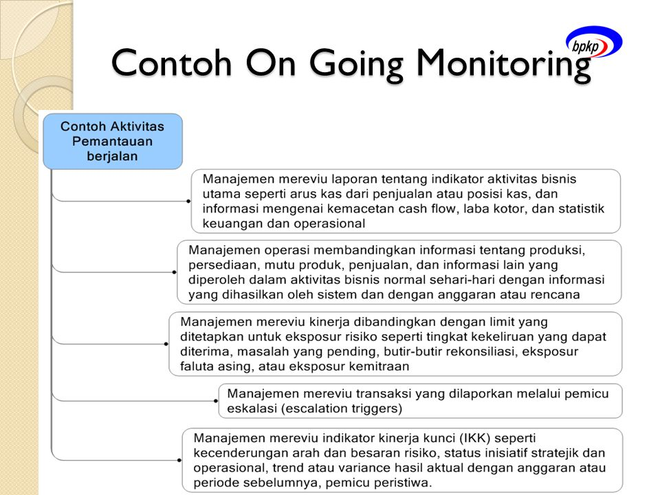 Contoh On Going Monitoring
