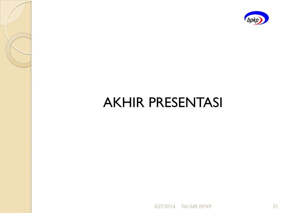 AKHIR PRESENTASI 4/3/2017 Tim MR BPKP