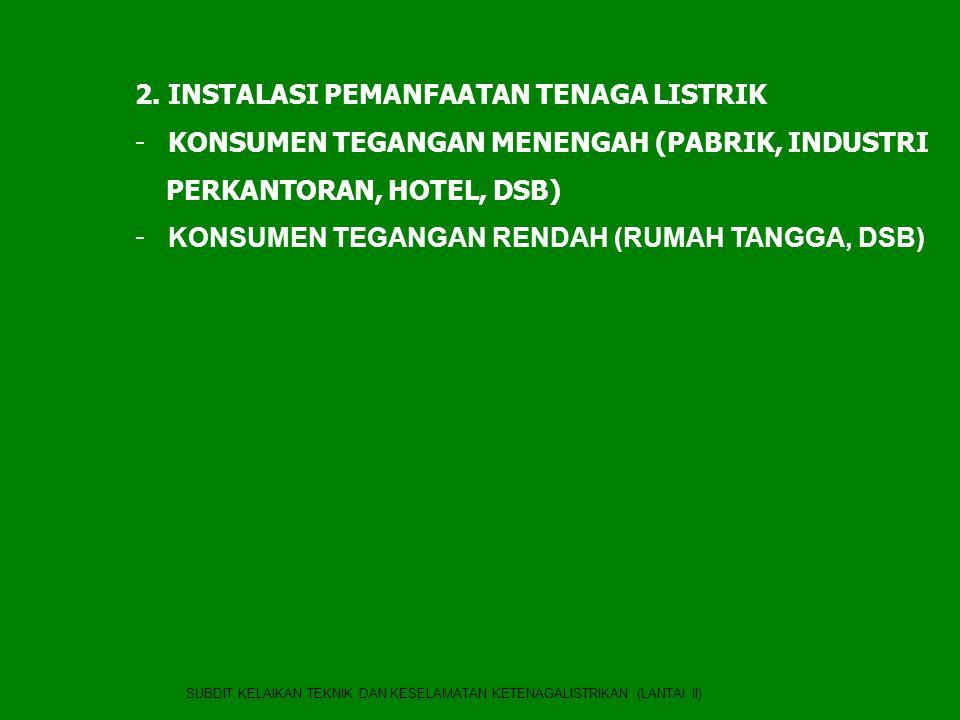 2. INSTALASI PEMANFAATAN TENAGA LISTRIK