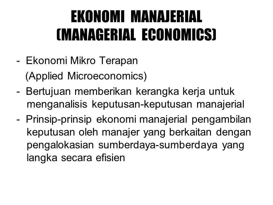 EKONOMI MANAJERIAL (MANAGERIAL ECONOMICS)
