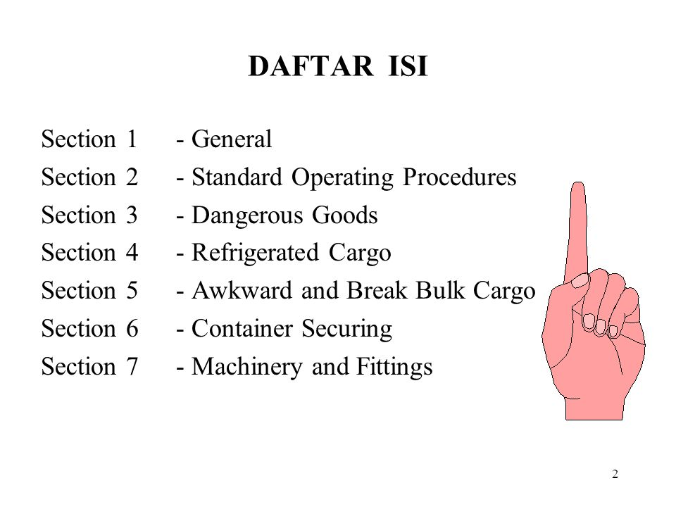 DAFTAR ISI Section 1 - General