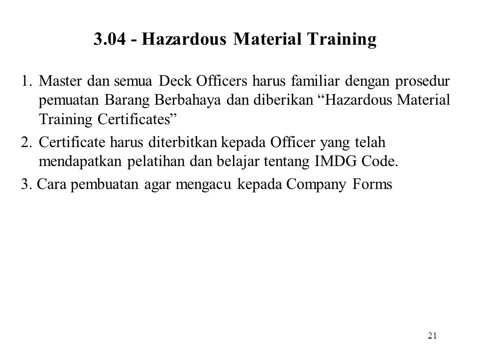 3.04 - Hazardous Material Training