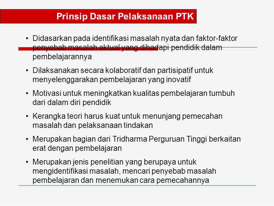 Prinsip Dasar Pelaksanaan PTK