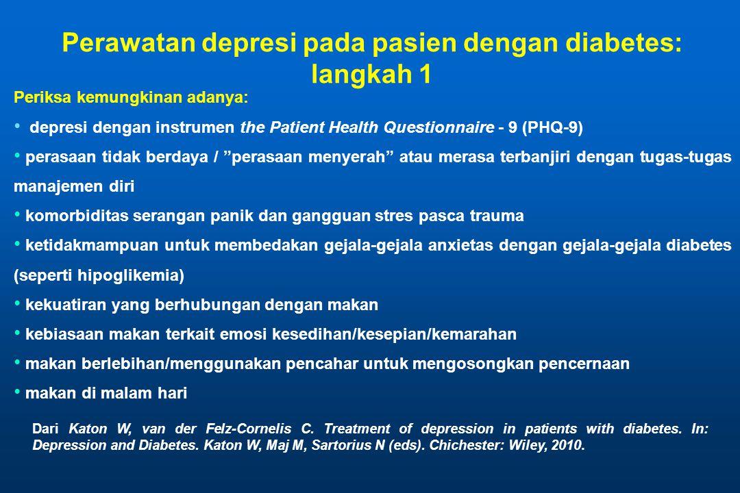 Perawatan depresi pada pasien dengan diabetes: langkah 1