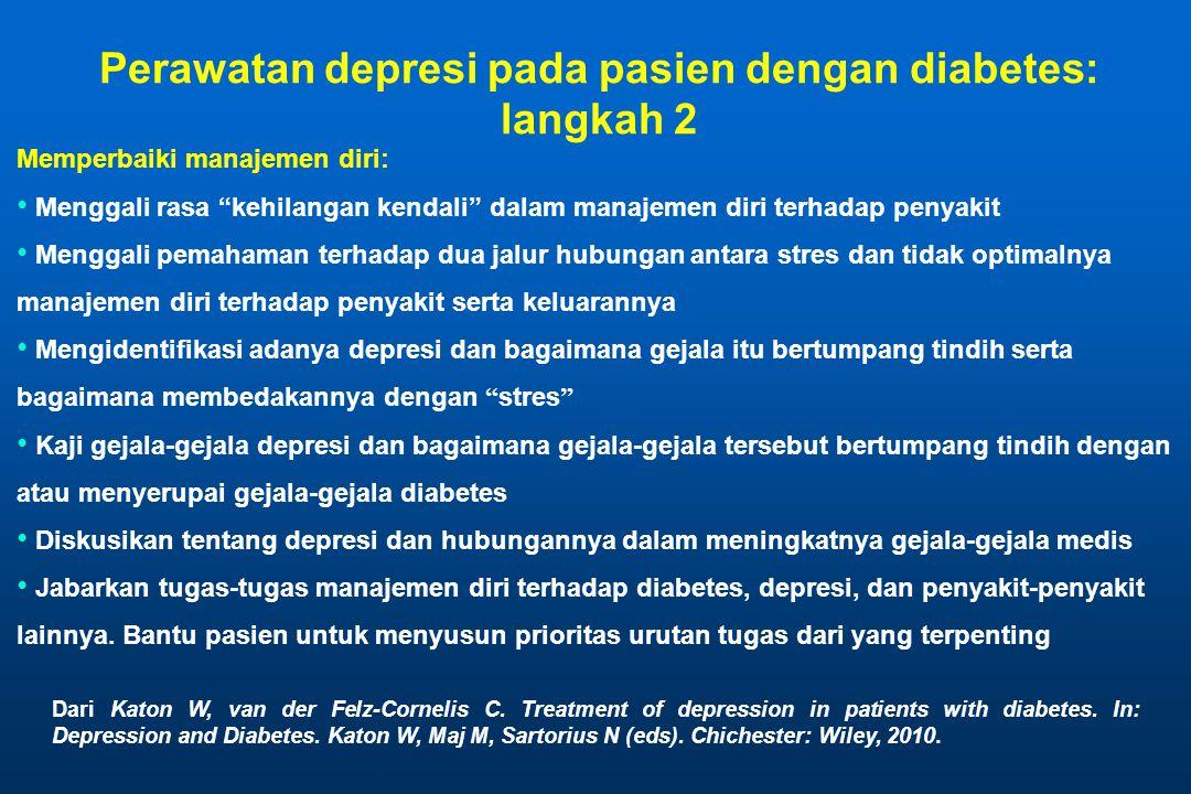 Perawatan depresi pada pasien dengan diabetes: langkah 2