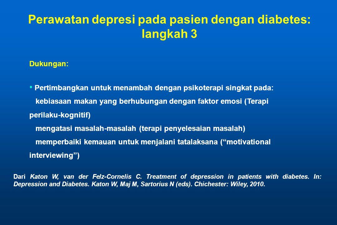 Perawatan depresi pada pasien dengan diabetes: langkah 3