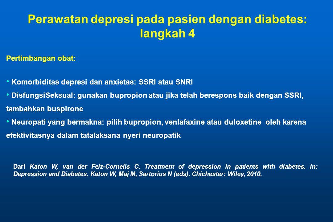 Perawatan depresi pada pasien dengan diabetes: langkah 4