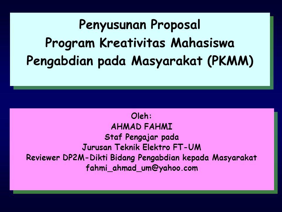Program Kreativitas Mahasiswa Pengabdian pada Masyarakat (PKMM)