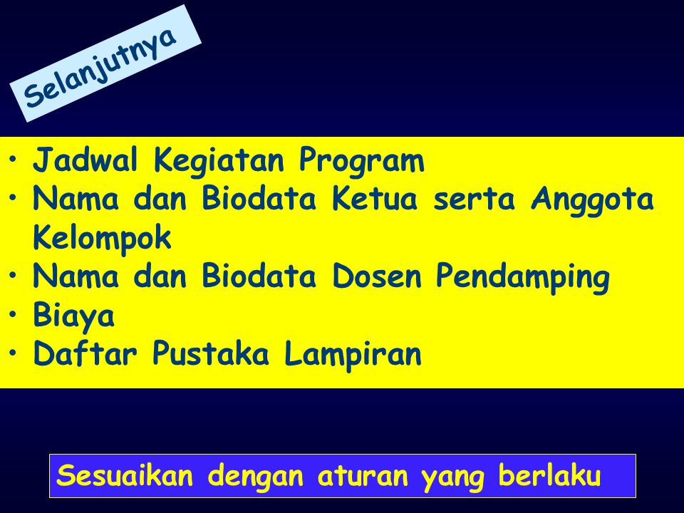 Jadwal Kegiatan Program Nama dan Biodata Ketua serta Anggota Kelompok