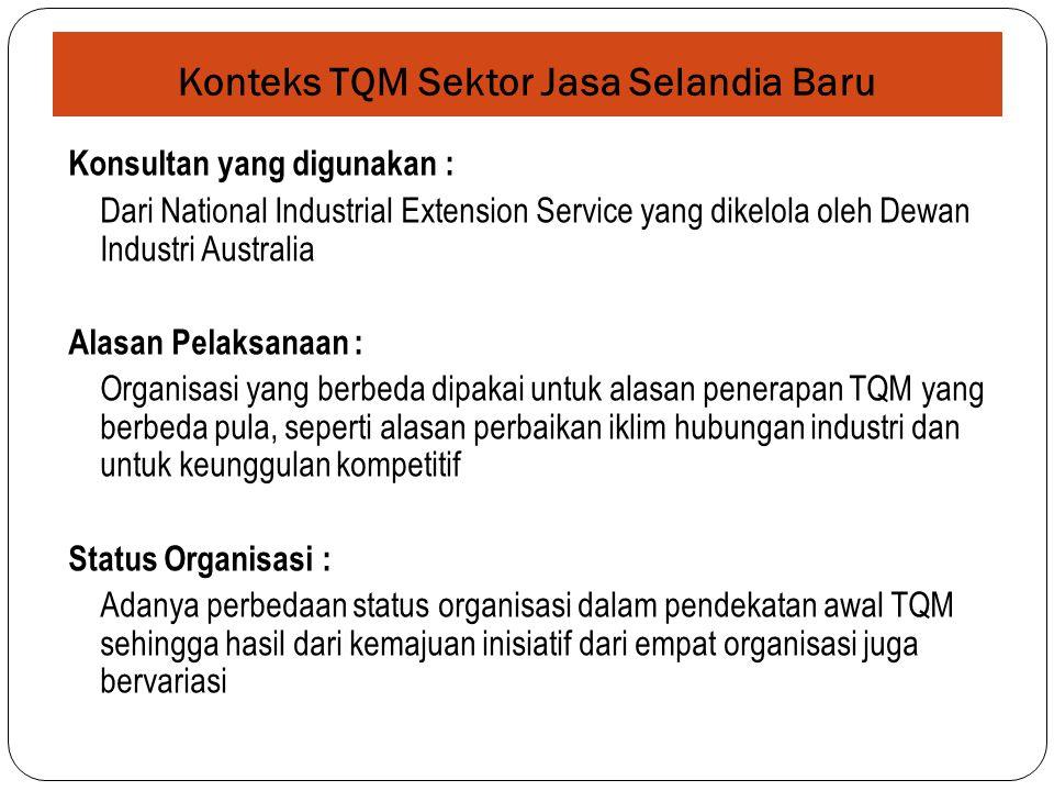 Konteks TQM Sektor Jasa Selandia Baru