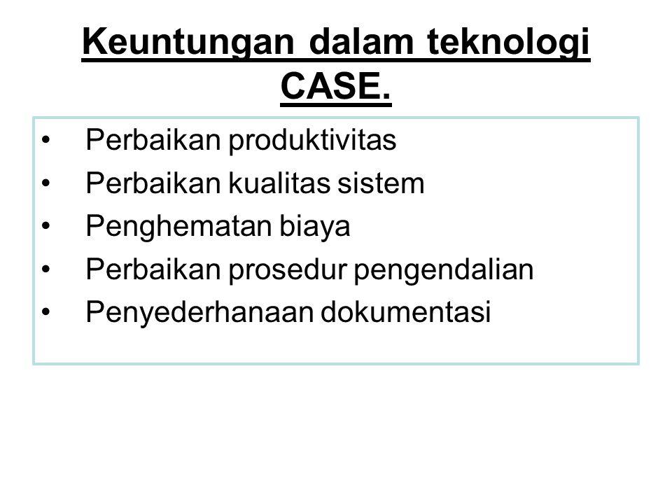 Keuntungan dalam teknologi CASE.