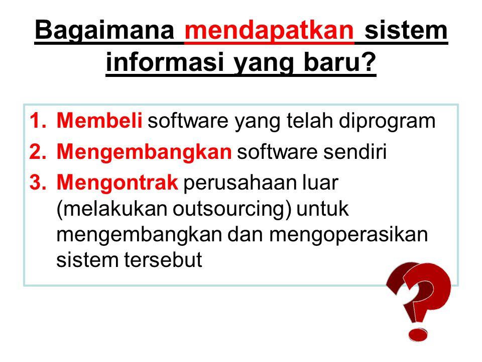 Bagaimana mendapatkan sistem informasi yang baru