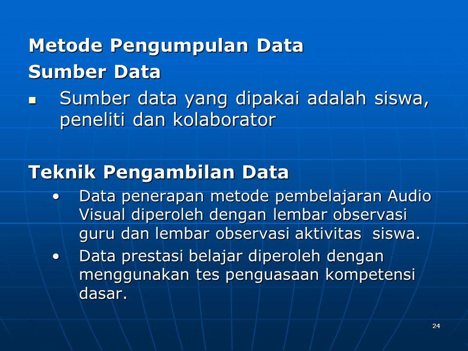 Metode Pengumpulan Data Sumber Data