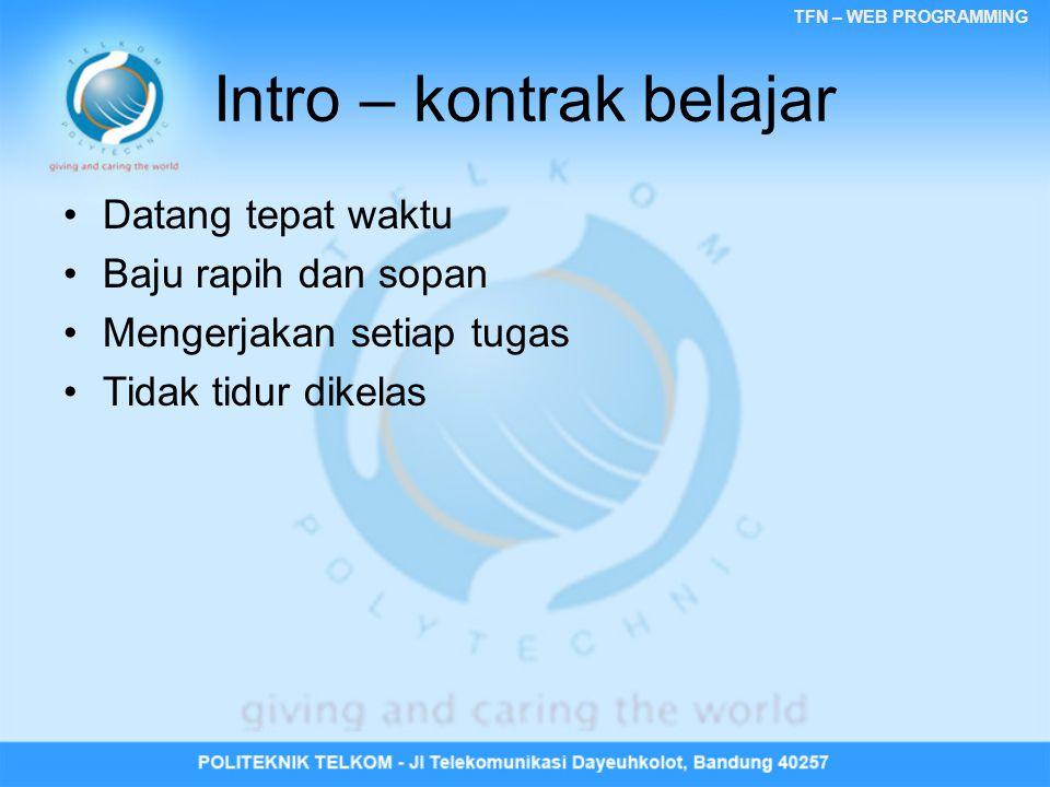 Intro – kontrak belajar