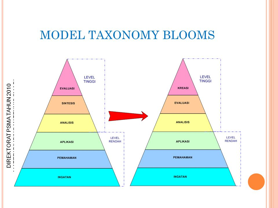 MODEL TAXONOMY BLOOMS
