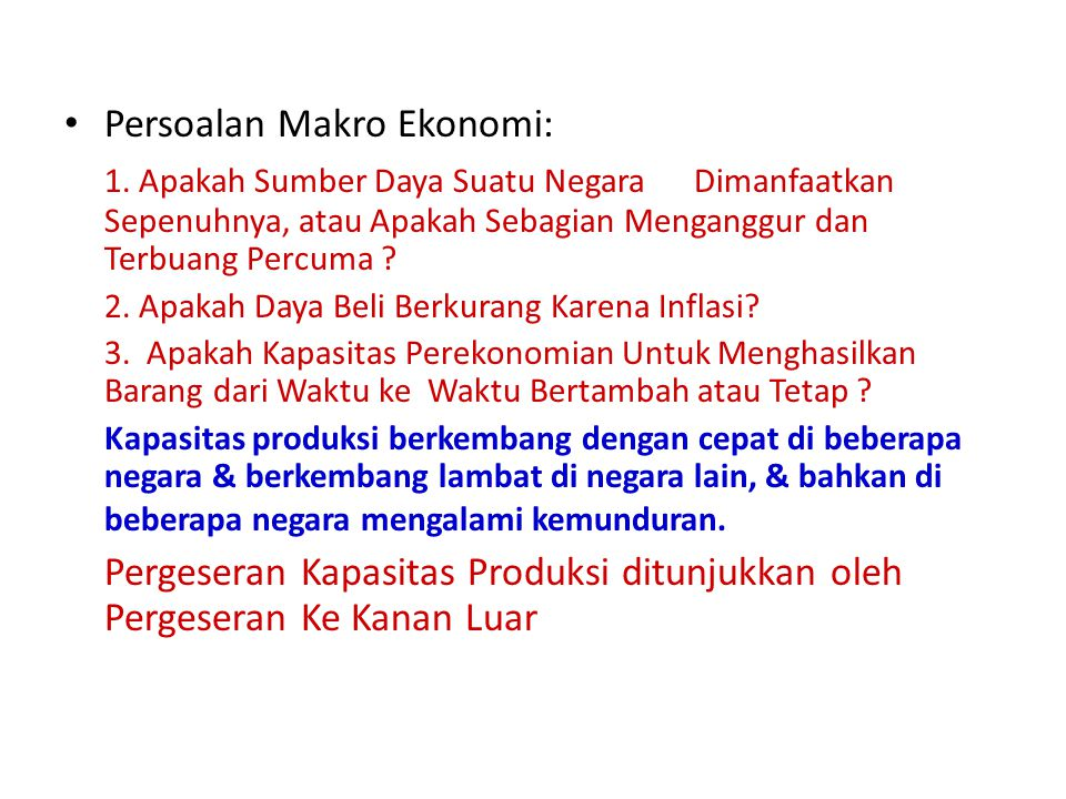 Persoalan Makro Ekonomi: