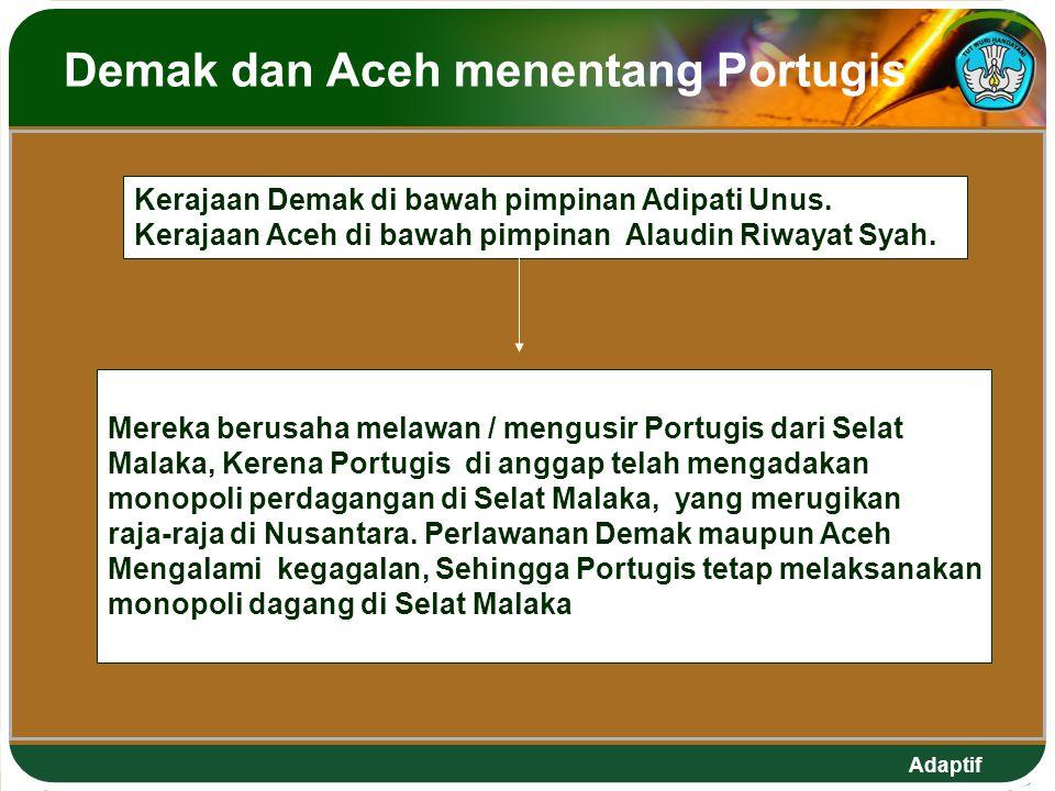 Demak dan Aceh menentang Portugis