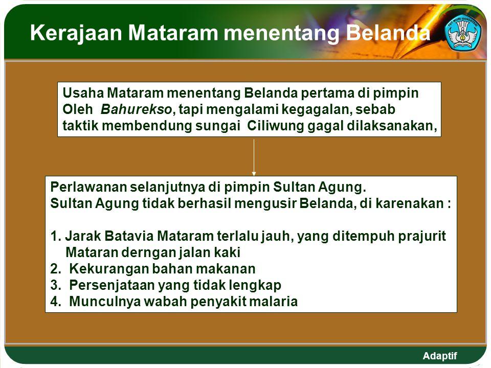 Kerajaan Mataram menentang Belanda
