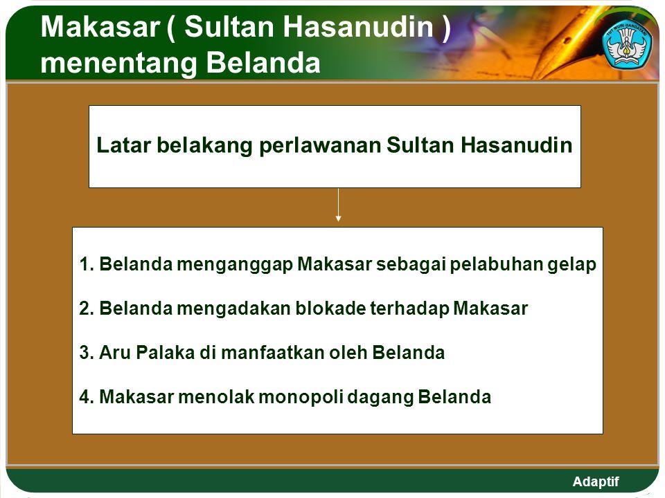 Makasar ( Sultan Hasanudin ) menentang Belanda